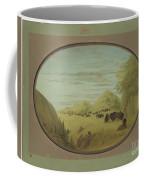 Catlin And Two Companions Shooting Buffalo Coffee Mug