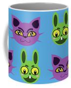 Cats And Rabbits Coffee Mug