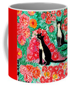 Cats And Roses Coffee Mug