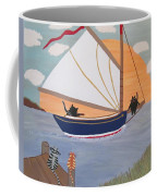Cats On Cat Boat Coffee Mug