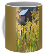Cattails And Barn Coffee Mug