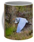 Cattle Egret In Flight Coffee Mug