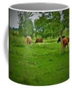 Cattle Grazing In A Lush Pasture Coffee Mug