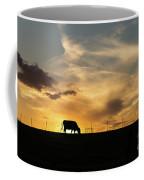 Cattle Sunset Silhouette Coffee Mug