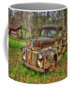 Caught Behind 1947 Ford Stakebed Pickup Truck Art Coffee Mug