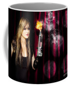 Caught In The Act Of Setting The Stage On Fire Coffee Mug