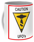 Caution Ufos Coffee Mug by Pixel Chimp