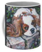 Cavalier King Charles Spaniel In The Pansies  Coffee Mug by Lee Ann Shepard