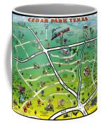 Cedar Park Texas Cartoon Map Coffee Mug