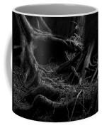 Cedar Roots Black And White Coffee Mug