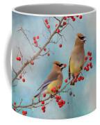 Cedar Waxwing Pair Coffee Mug