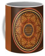 Celtic Dragonfly Mandala In Orange And Brown Coffee Mug
