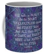 Celtic She Walks In Beauty Coffee Mug