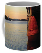 Celtic Tall Ship - El Galeon In Halifax Harbour At Sunrise Coffee Mug