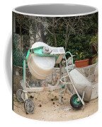 Cement Mixer And A Wheelbarrow In Croatia Coffee Mug