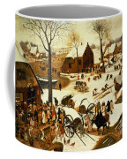 Census At Bethlehem Coffee Mug by Pieter the Elder Bruegel