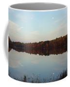 Centennial Lake Autumn - Reflective Moon Over The Lake Coffee Mug