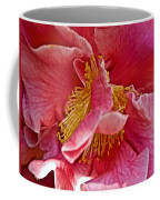Center Of A Pink Camellia At Pilgrim Place In Claremont-california  Coffee Mug