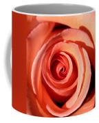 Center Of The Peach Rose Coffee Mug