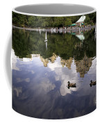 Central Park Pond With Two Ducks Coffee Mug by Madeline Ellis