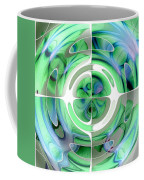 Cerulean Blue And Jade Abstract Collage Coffee Mug
