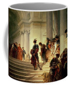 Cesare Borgia Leaving The Vatican Coffee Mug by Giuseppe Lorenzo Gatteri