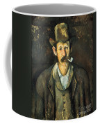 Cezanne: Pipe Smoker, C1892 Coffee Mug