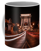 Chain Bridge At Midnight Coffee Mug