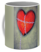 Chained Heart Coffee Mug by Jeff Kolker