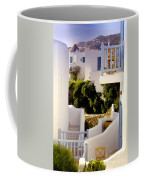 Chair On Balcony In Mykonos Coffee Mug
