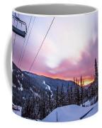Chairlift Sunset Coffee Mug