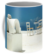Chairs Of Santorini Coffee Mug