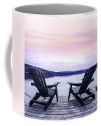 Chairs On Lake Dock Coffee Mug