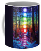Chakra Meditation In The Redwoods Coffee Mug by Laura Iverson