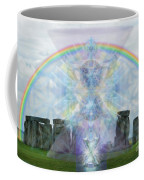 Chalice Over Stonehenge In Flower Of Life Coffee Mug