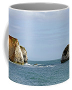 Chalk Cliffs At Freshwater Bay Coffee Mug