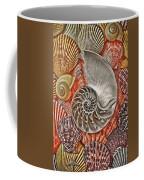 Chambered Nautilus Shell Abstract Coffee Mug