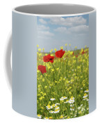Chamomile And Poppy Flowers Meadow Coffee Mug