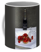 Champagne Bottle With Strawberry Tarts And 2 Glasses Coffee Mug