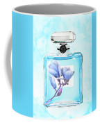 Chanel Blue Flower 3 Coffee Mug