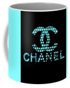 Chanel Light Blue Points Coffee Mug