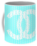 Chanel Logo Blue Teal White Coffee Mug