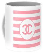 Chanel - Stripe Pattern - Pink - Fashion And Lifestyle Coffee Mug