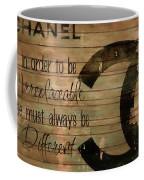 Chanel Wood Panel Rustic Quote Coffee Mug