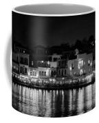 Chania By Night In Bw Coffee Mug