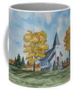 Chapel In Fall Coffee Mug