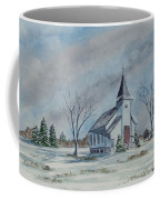 Chapel In Winter Coffee Mug