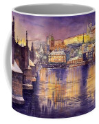 Charles Bridge And Prague Castle With The Vltava River Coffee Mug