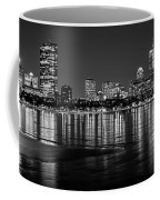 Charles River Boston Ma Prudential Lit Up Not Done New England Patriots Black And White Coffee Mug