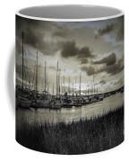 Charleston Marina Sunset In Sepia Coffee Mug